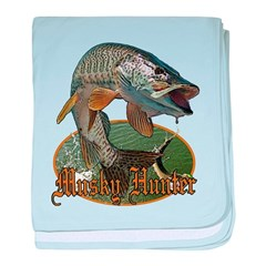 Musky Hunter 9 baby blanket