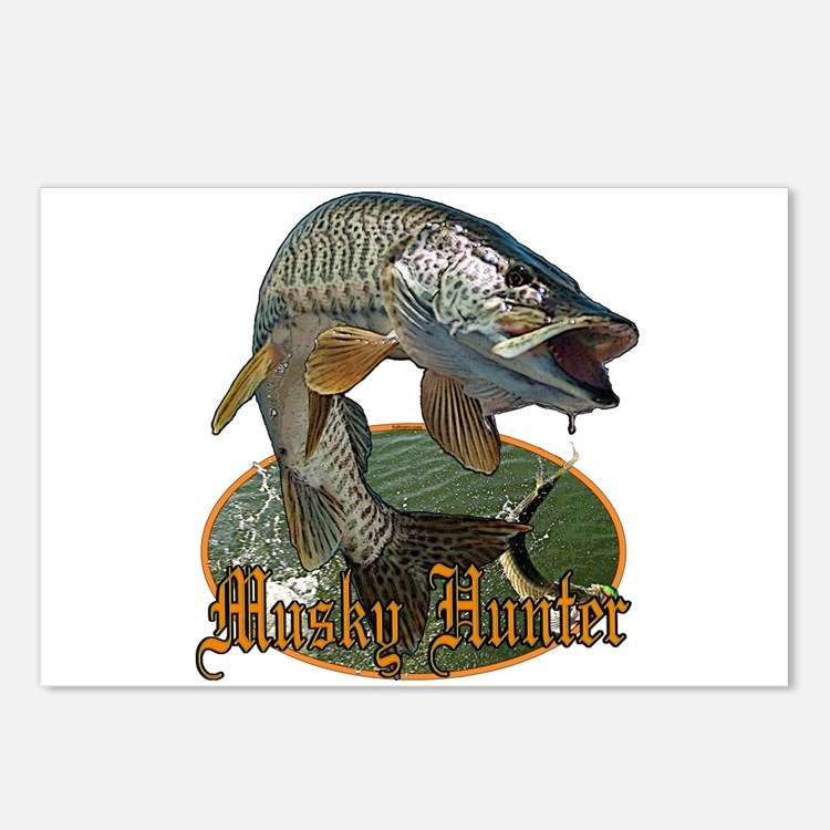 Musky Hunter 9 Postcards (Package of 8)
