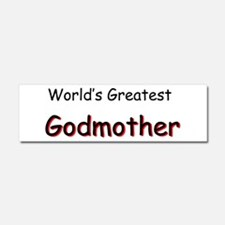 Greatest Godmother Car Magnet 10 x 3