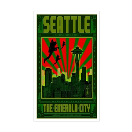 SEATTLE THE EMERALD CITY Sticker (Rectangle)