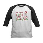 Who Needs Santa Kids Baseball Jersey