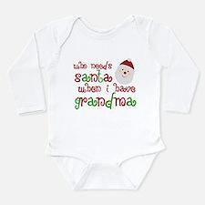 Who Needs Santa Long Sleeve Infant Bodysuit