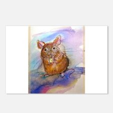 Mouse, cute, art, Postcards (Package of 8)