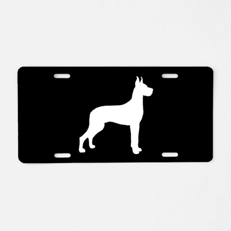 Great Dane SILHOUETTE Aluminum License Plate