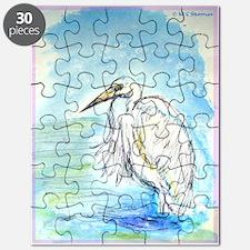 Egret, beautiful, bird, art, Puzzle