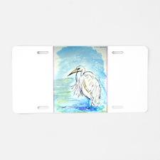 Egret, beautiful, bird, art, Aluminum License Plat