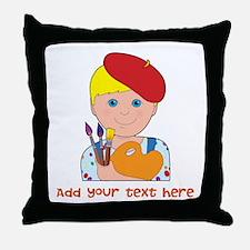 Artist Child Boy Throw Pillow