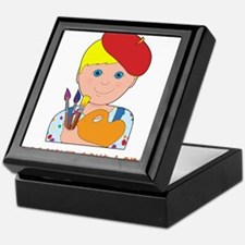 Artist Child Boy Keepsake Box