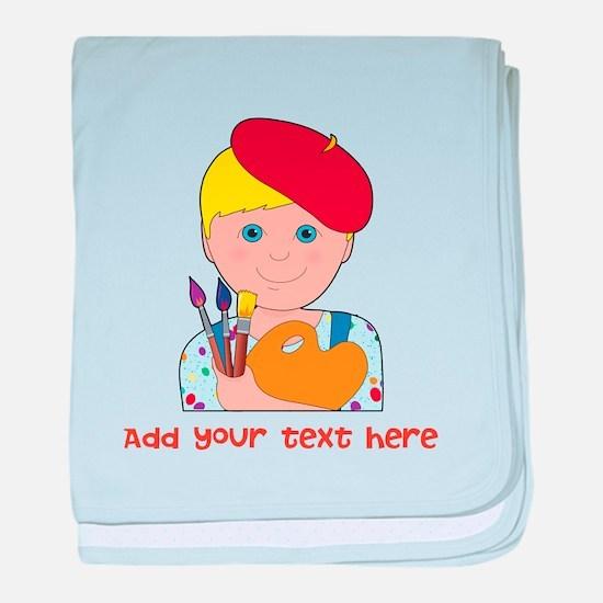 Artist Child Boy baby blanket