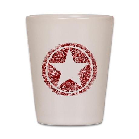 Worn, Vintage Star Shot Glass
