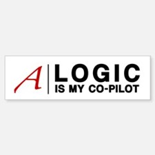 """Logic"" Atheist Gear Bumper Bumper Sticker"