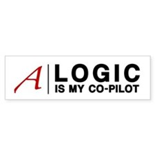 """Logic"" Atheist Gear Bumper Sticker"