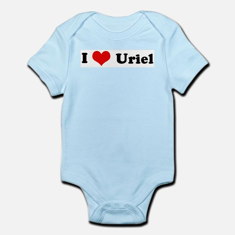 I Love Uriel Infant Creeper