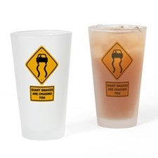 Giant Snakes Drinking Glass