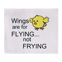 Wings are for Flying Throw Blanket