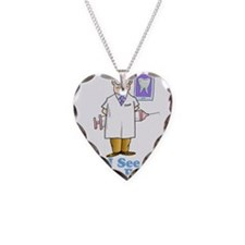 I See Numb People Necklace Heart Charm