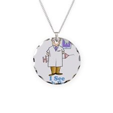 I See Numb People Necklace Circle Charm