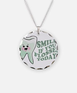 Funny Dentist Humor Necklace Circle Charm