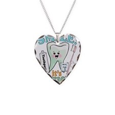 Smile It's Toothsday! Necklace Heart Charm
