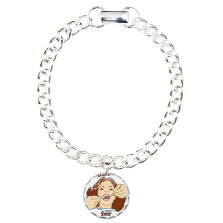 Hooray For Oral Hygiene Charm Bracelet, One Charm