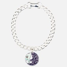 Brush and Floss Charm Bracelet, One Charm