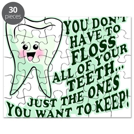 Funny Dental Hygiene Puzzle By ServingUpSmiles