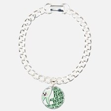 Funny Dental Hygiene Charm Bracelet, One Charm