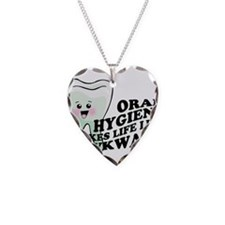 Oral Hygiene Necklace Heart Charm