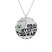 Oral Hygiene Necklace Circle Charm