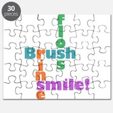 Brush Floss Rinse Smile Puzzle