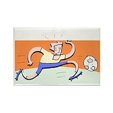 Funny Soccer Rectangle Magnet