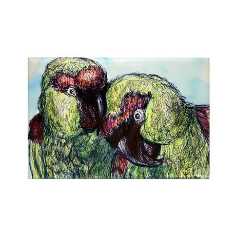 Parrots, bird art, Rectangle Magnet (10 pack)