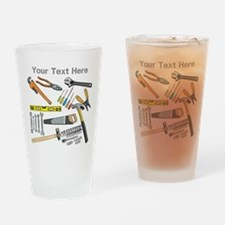 Tools with Gray Text. Drinking Glass