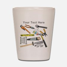 Tools with Gray Text. Shot Glass