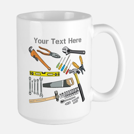 Tools with Gray Text. Large Mug