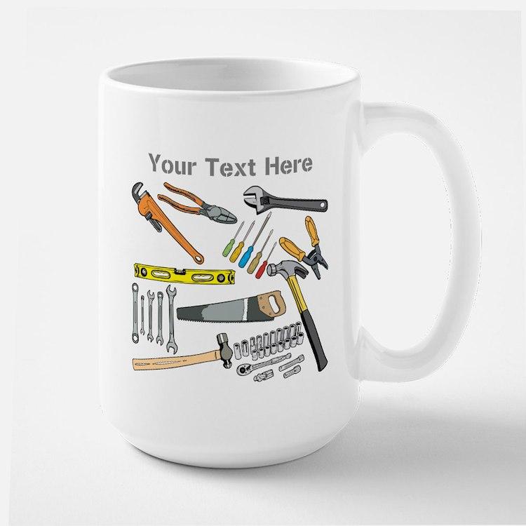 Tools with Gray Text. Large Mug