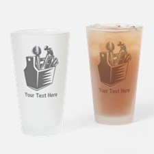 Tool box. Custom Text. Drinking Glass