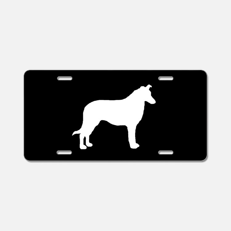 Collie (Smooth) SILHOUETTE Aluminum License Plate