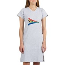 South African flag designs Women's Nightshirt