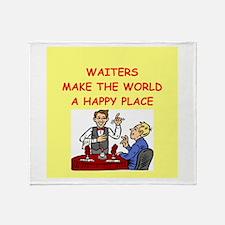 happy waiters Throw Blanket