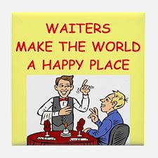happy waiters Tile Coaster