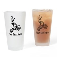 Motocross Drinking Glass