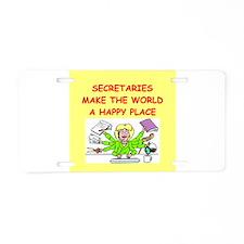 sexretaries Aluminum License Plate