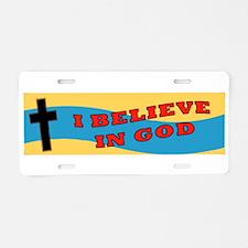 Chaplain Aluminum License Plate