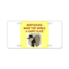 mortician Aluminum License Plate