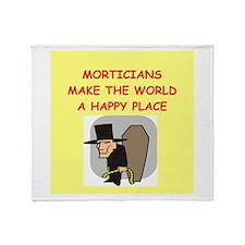 mortician Throw Blanket