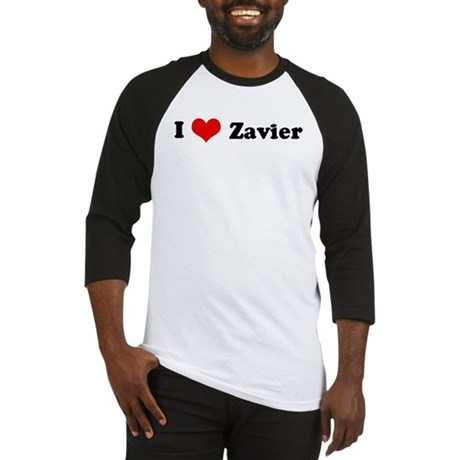 I Love Zavier Baseball Jersey