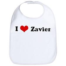 I Love Zavier Bib
