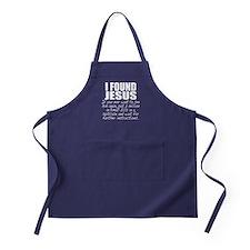 I Found Jesus Apron (dark)