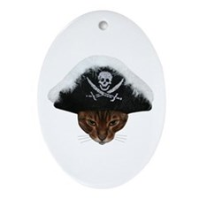 Arrr Pirate Cat Ornament (Oval)